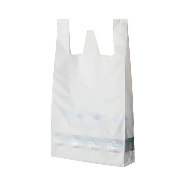 (まとめ) TANOSEE 乳白レジ袋 80号 ヨコ370×タテ800×マチ幅170mm 1パック(100枚) 【×10セット】