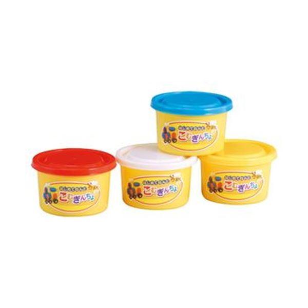 小麦粉 お気にいる 水 塩分が原料の安全ねんどです まとめ 銀鳥産業 こむぎんちょ4色 あか あお 出荷 ×3セット 12パック きいろ 各80g 1セット しろ 041-032