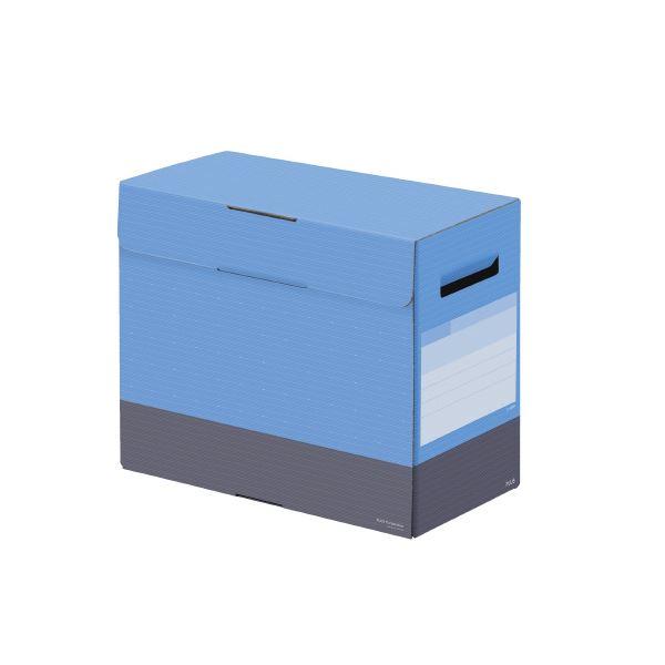 (まとめ)プラス ボックスファイルフタ付150mm スカイブルー【×30セット】