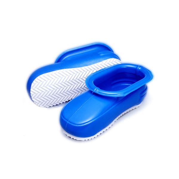 (まとめ) お風呂ブーツ/お風呂掃除用品 【ブルー 大きなサイズ】 2層構造 バス用品 『ビッグマンブーツ』 【40個セット】