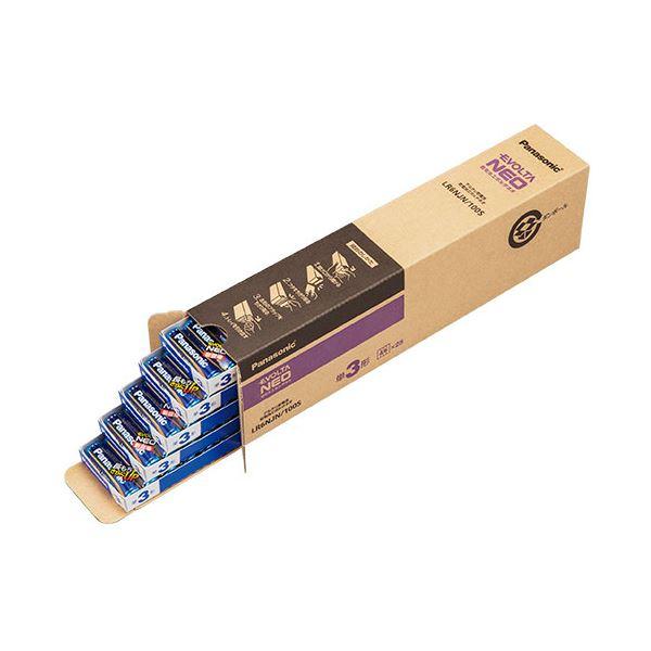 (まとめ)パナソニック アルカリ乾電池EVOLTAネオ 単3形 LR6NJN/100S 1箱(100本)【×3セット】