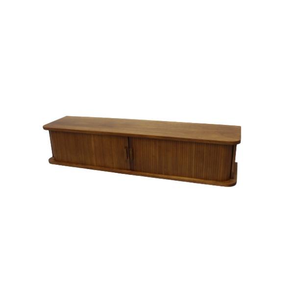 カウンターやダイニングテーブルの上に置く収納 ジャバラ扉式カウンター上収納庫 幅90cm 調味料入れ 小物入れ ダークブラウン 期間限定特別価格 完成品 代引不可 桐材 新色追加して再販