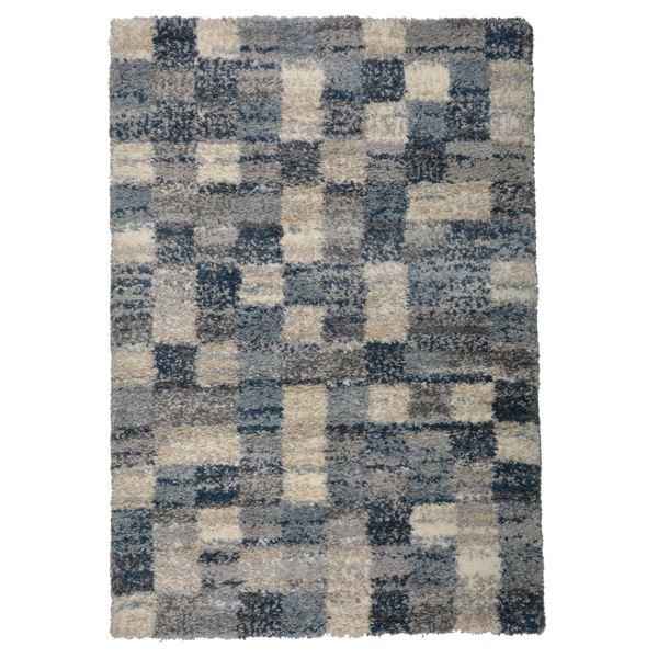 北欧風 ラグマット/絨毯 【140cm×200cm ブロック】 長方形 高耐久 ウィルトン 『QUEEN クィーン』 〔リビング〕【代引不可】