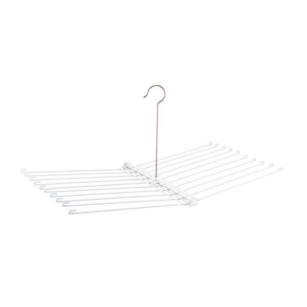 (まとめ)タオル干しハンガー 20枚用 (タオルハンガー 折りたたみ 物干し) W-271 【12個セット】