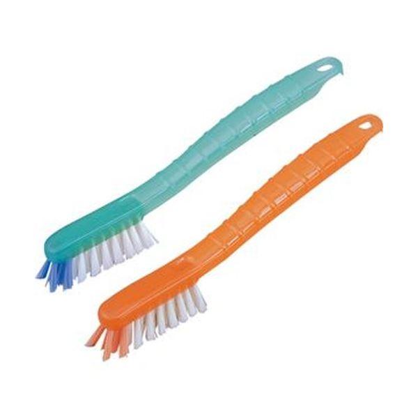 (まとめ)アズマ工業 いろいろ使えるゴシゴシブラシ2色組 1パック(2本)【×20セット】