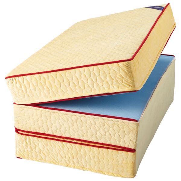 マットレス/寝具 【厚さ15cm ダブル 硬質】 140×195cm 日本製 洗えるカバー付 裏面メッシュ 『エクセレントスリーパー5』