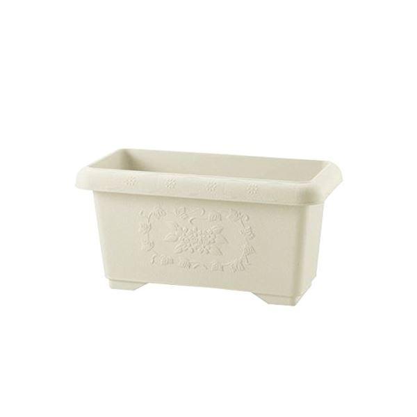 (まとめ) 深型 プランター/植木鉢 【アイボリー 45型】 止水栓付き ガーデニング用品 園芸 【×20個セット】