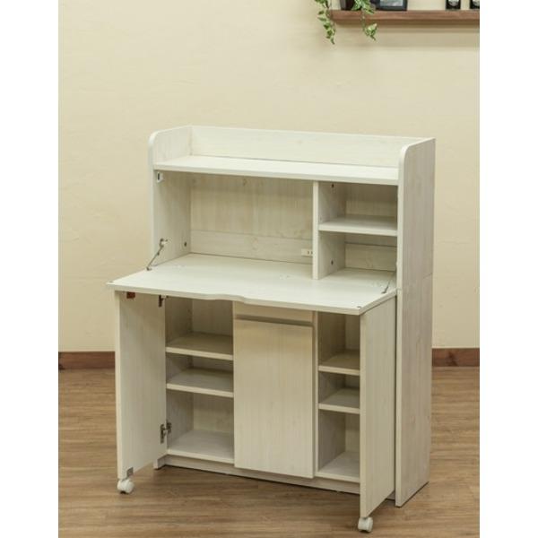 Solano ライティングデスク 90cm幅 ホワイト(WH)【代引不可】