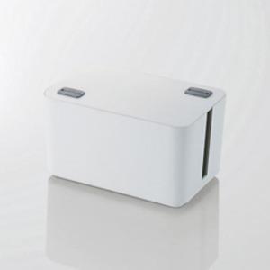 5個セット エレコム ケーブルボックス(4個口) ホワイト EKC-BOX002WHX5