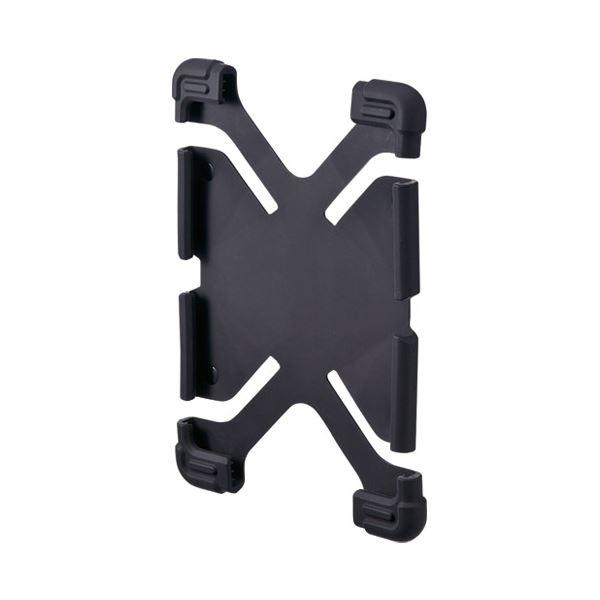 (まとめ)サンワサプライ 耐衝撃シリコンケース PDA-TABH4BK【×30セット】