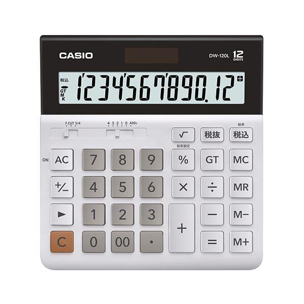 (まとめ) カシオ 横型電卓 12桁DW-120L-N 1台 【×10セット】