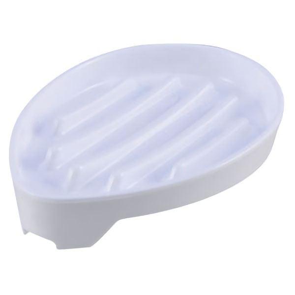 (まとめ) 水切り 石鹸台/ソープディッシュ 【ホワイト】 洗面所用品 【×120個セット】
