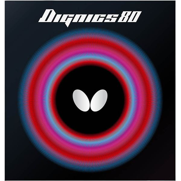 Butterfly(バタフライ) ハイテンション裏ラバー DIGNICS 80 ディグニクス80 ブラック 厚