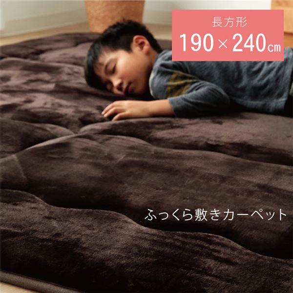 ラグ マット こたつ敷き布団 長方形 ラグ ブラウン 約190×240cm