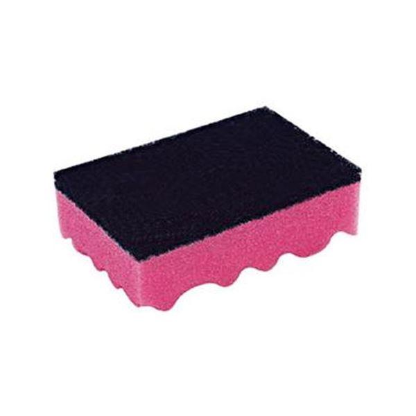 (まとめ)キクロン キクロン Aスポンジたわし ピンク112418 1個【×50セット】