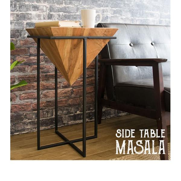 サイドテーブル プランター デザインテーブル ナイトテーブル 天然木 ST-L640【送料無料】