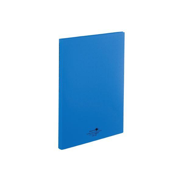 まとめ 超激安特価 交換無料 LIHITLAB 名刺帳 A4 300枚用 A-5042-8 青 ×30セット