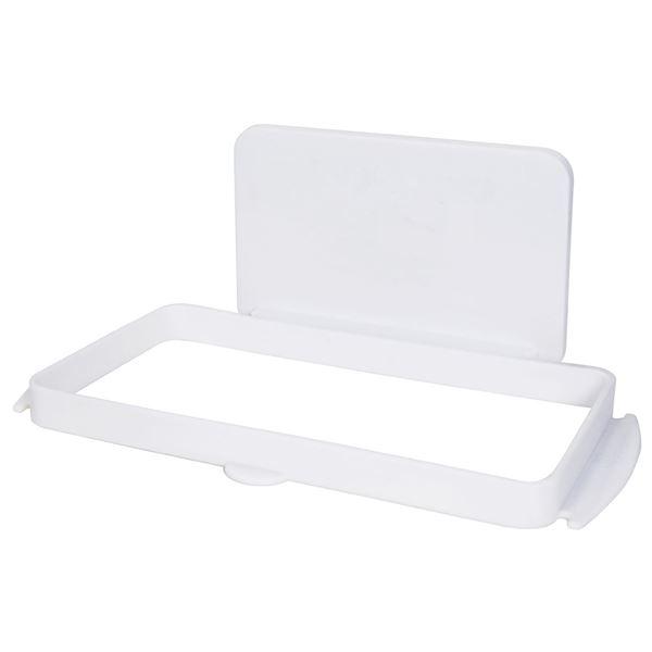 (まとめ) ゴミ袋ホルダー/キッチン収納 【マグネット式】 吸盤付き ホワイト 『Mag-On』 【40個セット】