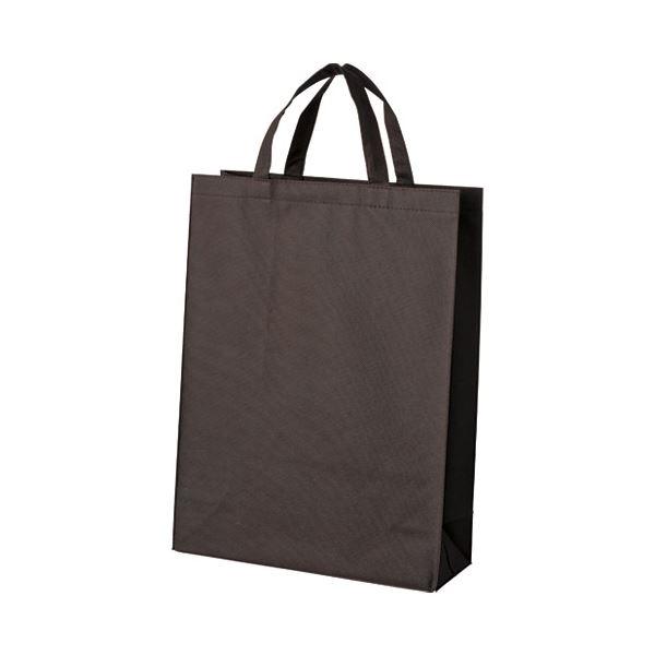 (まとめ)スマートバリュー 不織布手提げバッグ中10枚ブラウンB451J-BR【×5セット】