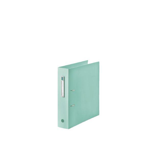(まとめ)LIHITLAB noie-style A-Zファイル F-7687-19 ライトグリーン【×30セット】