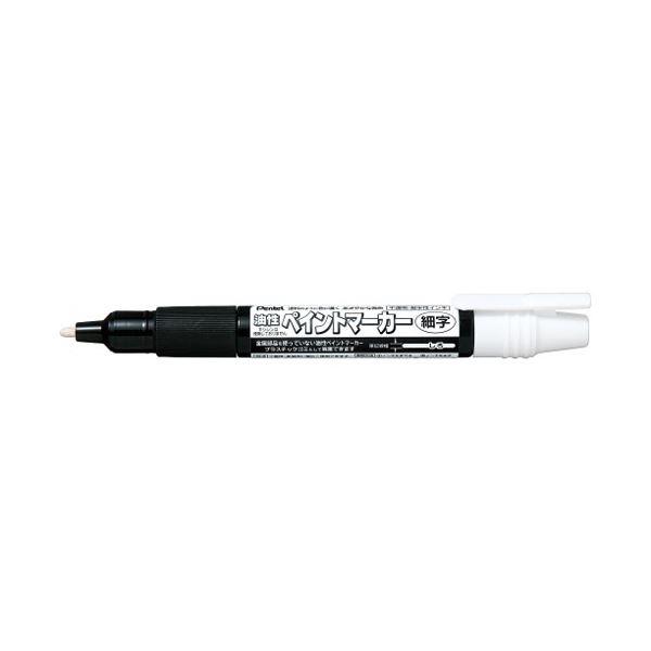 (まとめ)ぺんてる ペイントマーカー細字 MSP20-W 白【×100セット】