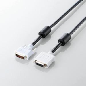 5個セット エレコム DVI延長ケーブル(アナログ/デジタル) CAC-DVIE10BKX5