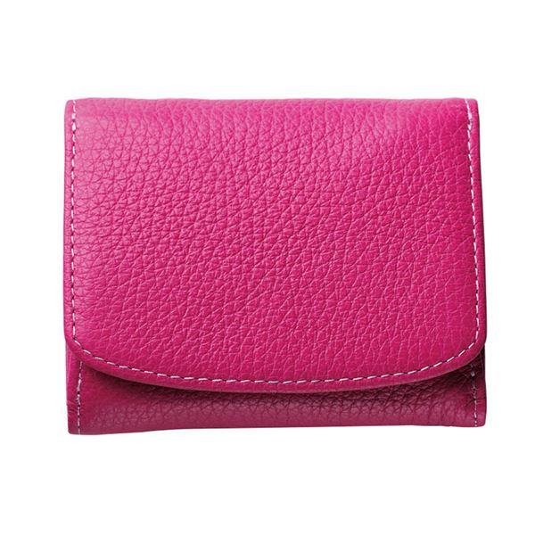 コンパクトな三つ折り財布 ル プレリー三つ折り財布 定番キャンバス 代引不可 NPS5570 トレンド ピンク
