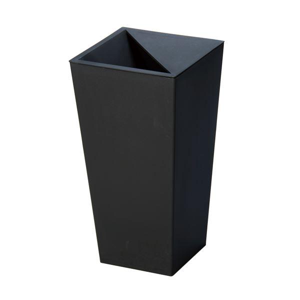 (まとめ) スクエア型 ダストボックス/ゴミ箱 【9L ブラック】 レザー風 『ユニード カクス』 【×20個セット】