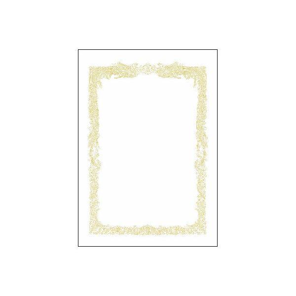 (まとめ)タカ印 賞状用紙 10-1161 A4横書 百枚【×10セット】