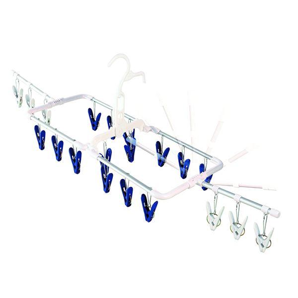 (まとめ) 軽量洗濯ハンガー/ピンチハンガー 【20ピンチ】 アルミ製 風通しハンガー ウイング 【×14個セット】