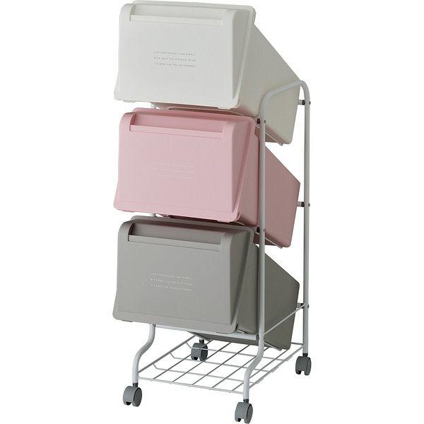 リス コンテナスタイル5 CS5-60 MX7 3段ゴミ箱 GCON157【代引不可】