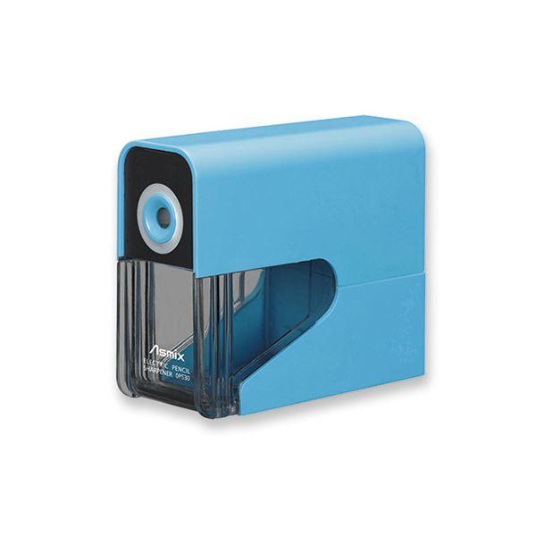 (まとめ) アスカ 乾電池式電動シャープナー ブルー【×5セット】