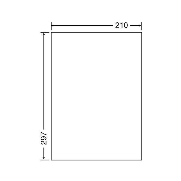 東洋印刷 ナナクリエイトカラーレーザープリンタ用光沢ラベル A4 ノーカット SCL-7 1箱(400シート:80シート×5冊)