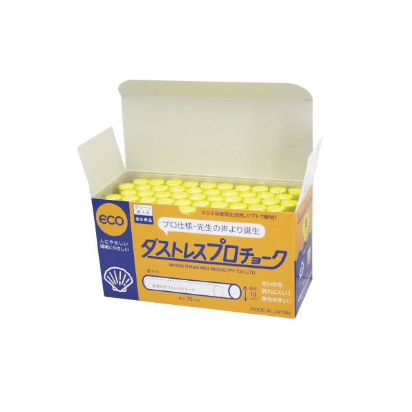 50本【×30セット】 DCP-50-Y プロチョーク (まとめ)日本理化学工業 黄