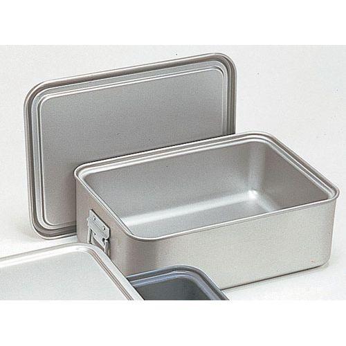 オオイ金属 アルマイト 角型二重米飯缶 (蓋付) 264-D ABI102