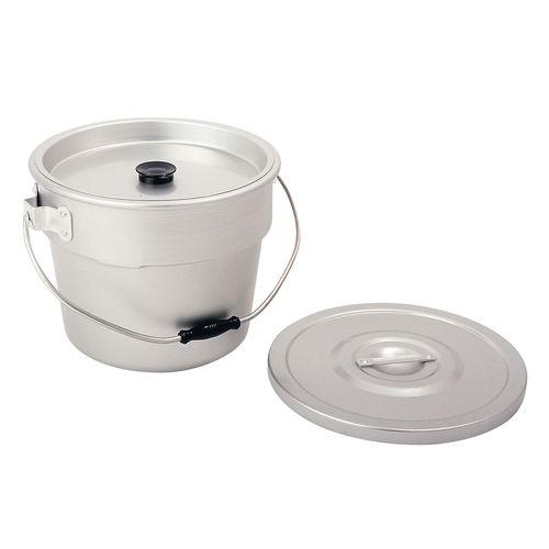 アカオアルミ アルマイト 丸型二重食缶 10L ASYG403