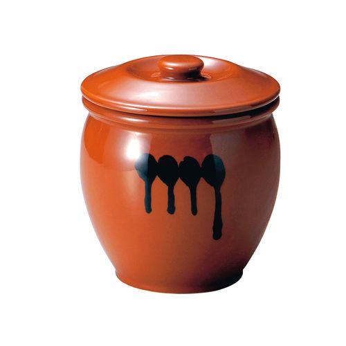 ヤマキイカイ 陶器 蓋付半胴かめ 8号 14.4L DHV1806