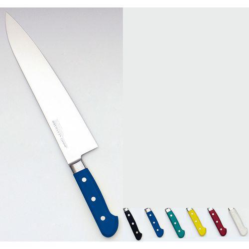 堺寛光 STD抗菌PC 牛刀(両刃) 24cm 青 56006 AZT7014