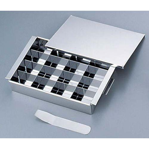 サンエー 18-0玉子豆腐器仕切付 蓋付 ATM2801 お歳暮 最新号掲載アイテム 16個取