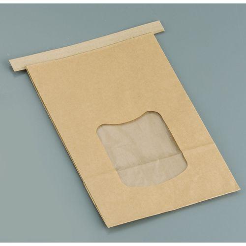 水野産業 クラフト窓付きティンタイ袋(ワイヤー付) L(400枚入) GHK0703
