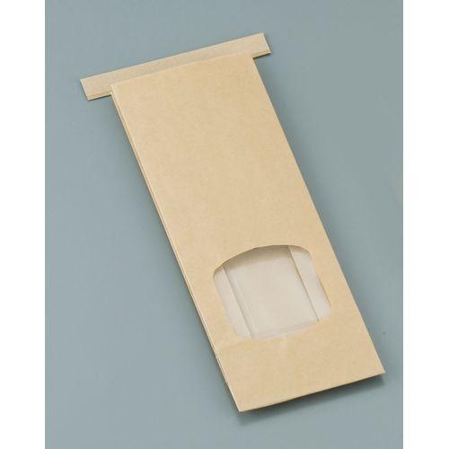 水野産業 クラフト窓付きティンタイ袋(ワイヤー付) S(500枚入) GHK0701