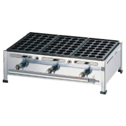 荒木金属 関西式たこ焼器(28穴) 2枚掛 LPガス GTK234