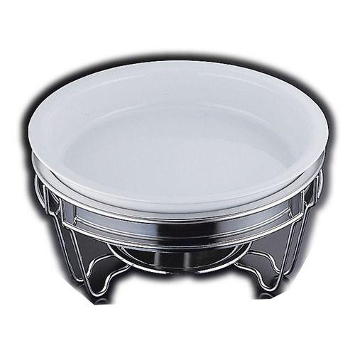 ヴァンセンヌ 丸チェーフイング MF仕様 陶器仕切無中皿 目皿付 NTEL901
