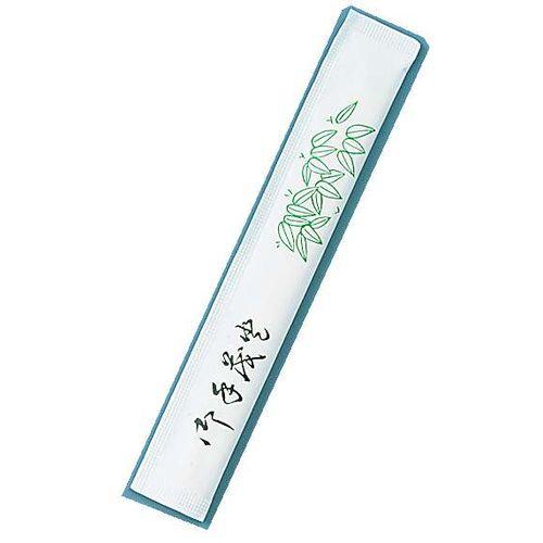 ツボイ 割箸完封 笹柄楊枝入り 松6寸小判 (1ケース500膳×8袋入) XHSA5
