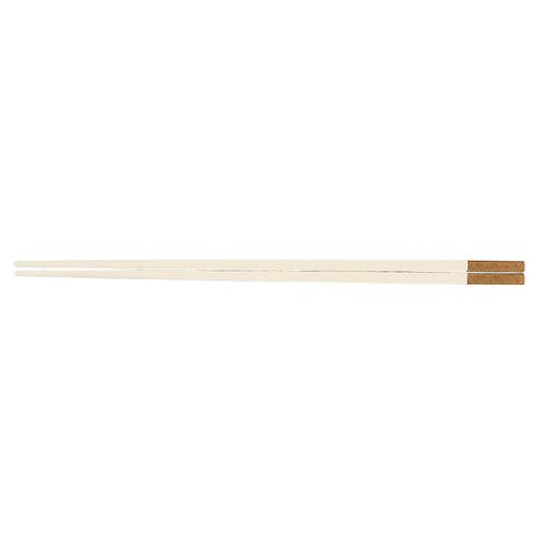 福井クラフト PBT和洋中角箸 ゴールド(10膳入) 白 85915520 TTY3501