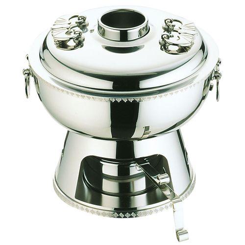 YUKIWA UK18-8雷門渕ホーコー鍋(固形ランプ付) 23cm QHC11023