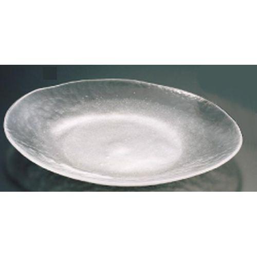 吉沼硝子 硝子和食器 白雪23 小判盛込皿(大) RML29