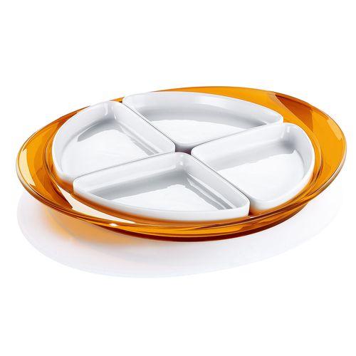 グッチーニ オードブルディッシュ 2291.0045 オレンジ RGT1206