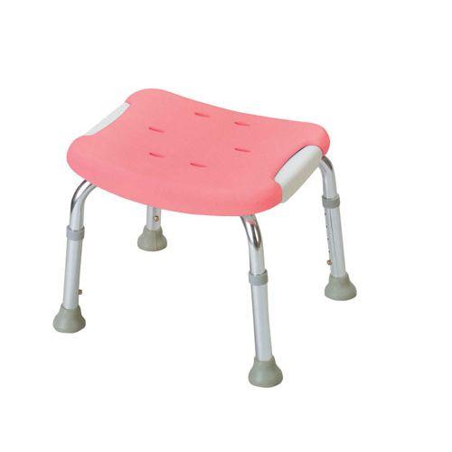 リッチェル やわらかシャワーチェア ピンク 背なしコンパクト VSY0401
