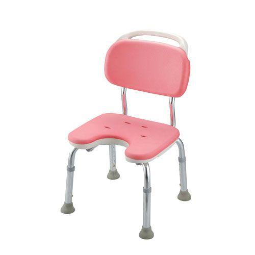 リッチェル やわらかシャワーチェア ピンク U型背付コンパクト VSY0501